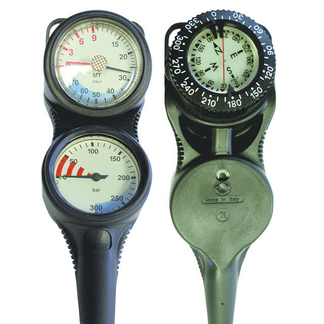 Atlantis Triple Gauges- Wellington Scuba Store dive gear diving equipment Wellington PADIi dive courses Wellington TDI courses KISS Rebreathers