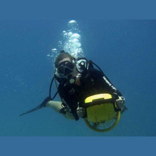 """Wellington Scuba Diving-DPV """"Scooter"""" Diver"""