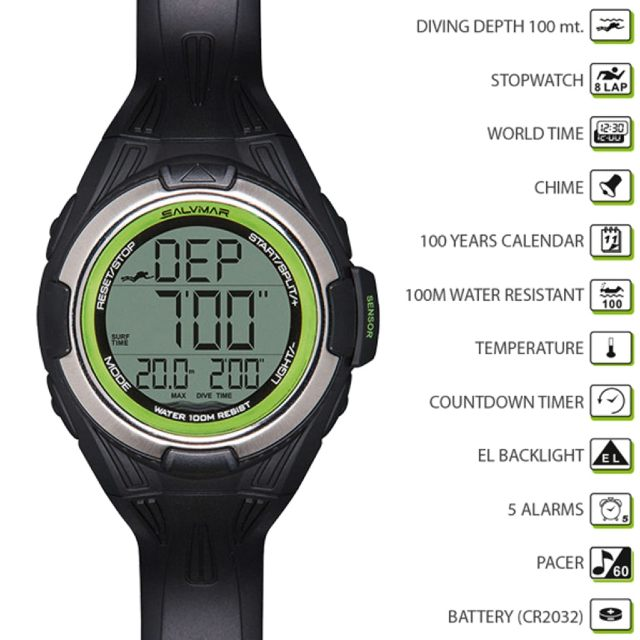 wellington freediving Salvimar One Watch