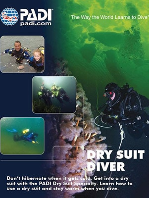 wellington scuba diving drysuit diver specialty course